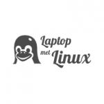 laptop met linux logo